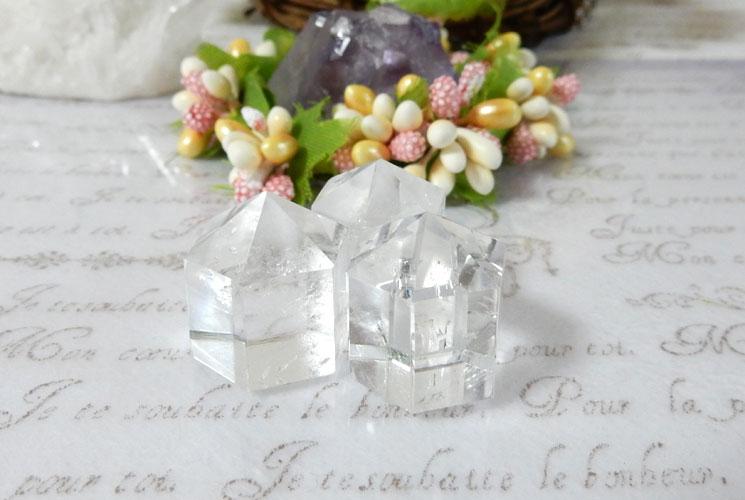 【ヒマラヤ産】クリスタル(水晶) ポイント 3本セット-1