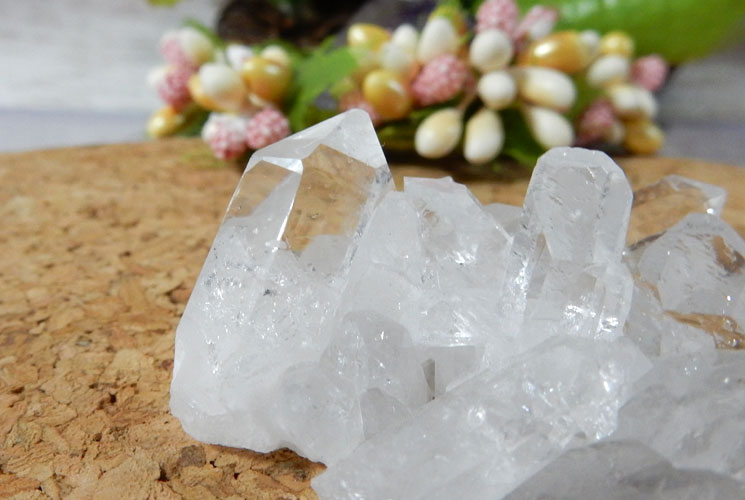 ブラジル産小さな水晶クラスター(2個セット)-2