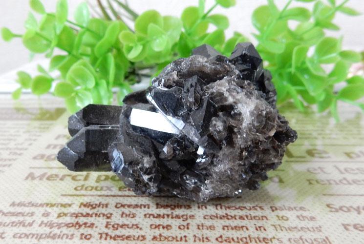アーカンソー産モリオン(黒水晶) クラスター-0