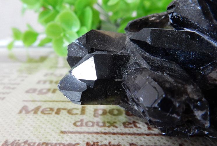 アーカンソー産モリオン(黒水晶) クラスター-1