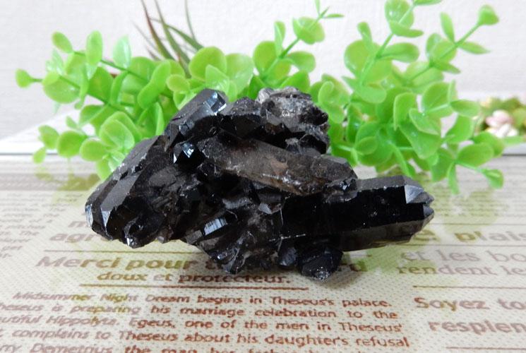 アーカンソー産モリオン(黒水晶) クラスター