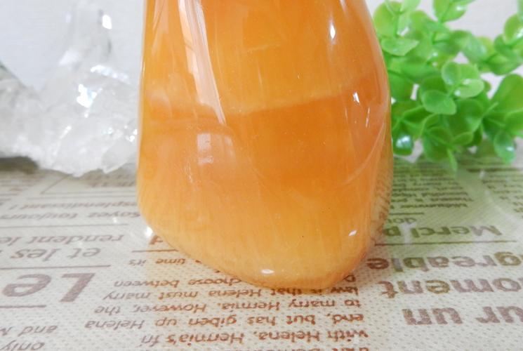 オレンジカルサイト 磨き石-2