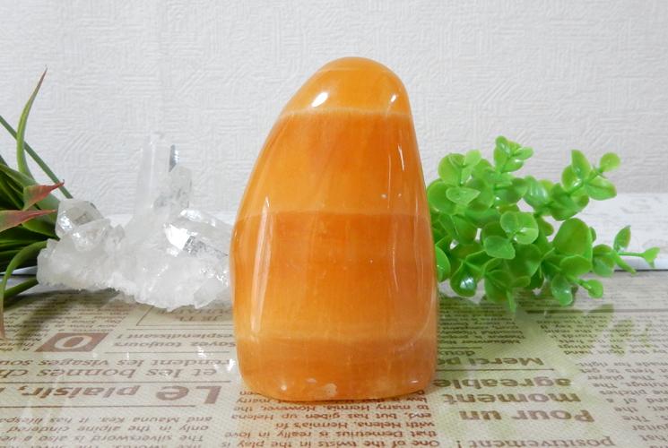 オレンジカルサイト 磨き石-3