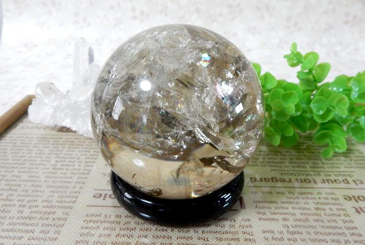 ブラジル産天然シトリン丸玉(スフィア)-1