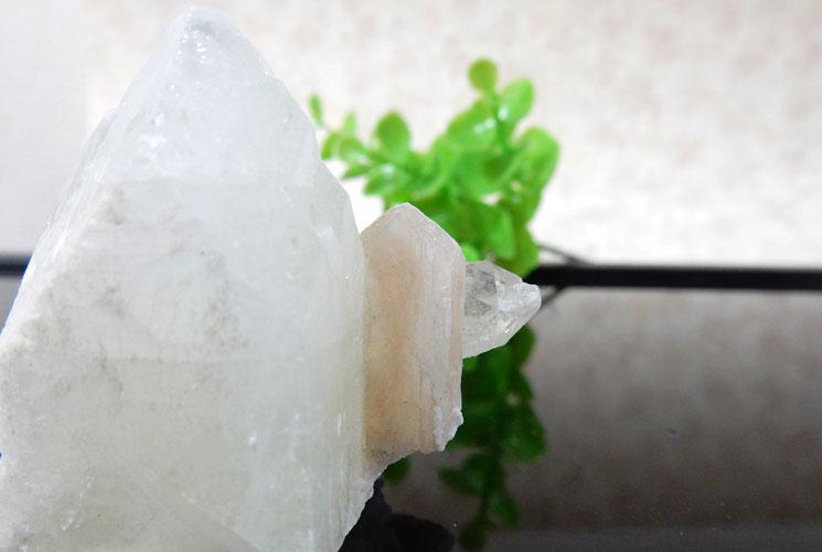 インド産アポフィライト 原石(スティルバイト共生)-1