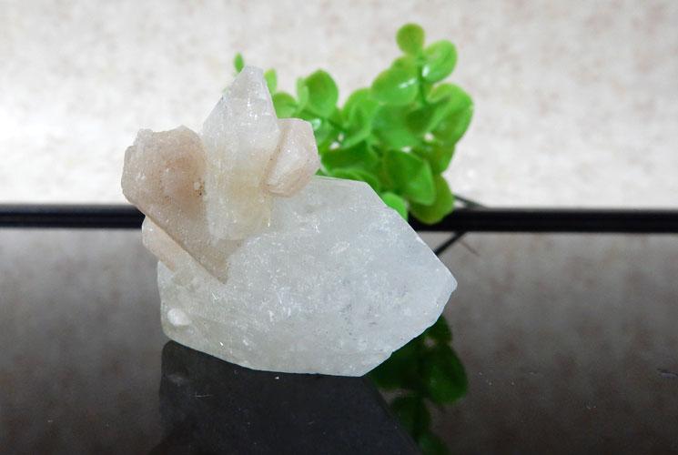 インド産アポフィライト 原石(スティルバイト共生)-2
