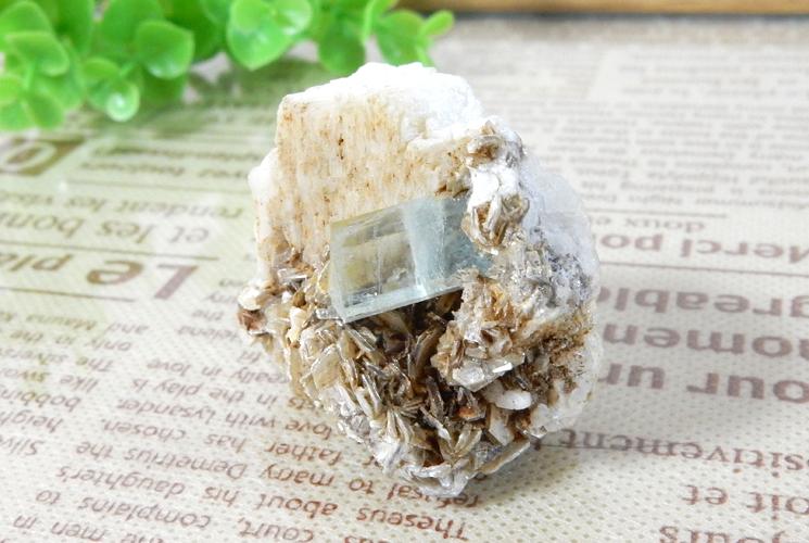 パキスタン産アクアマリン 原石(雲母共生)-0