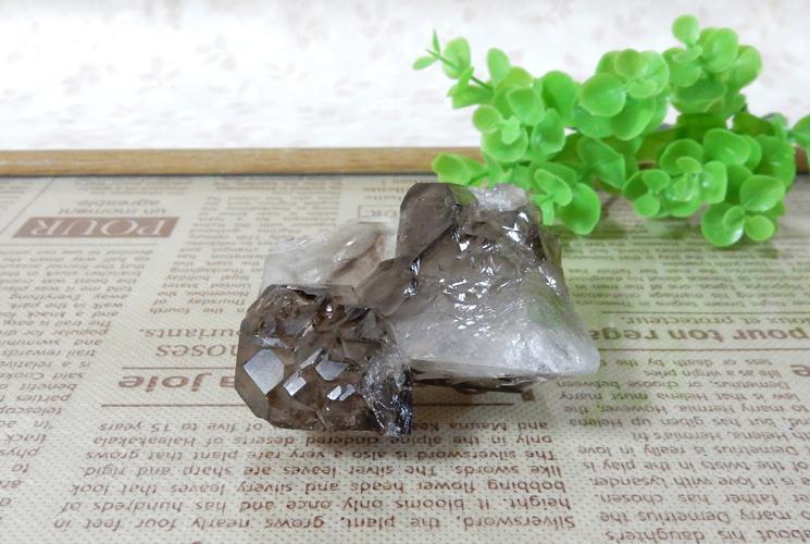 ブラジル産スモーキーエレスチャルクォーツの原石