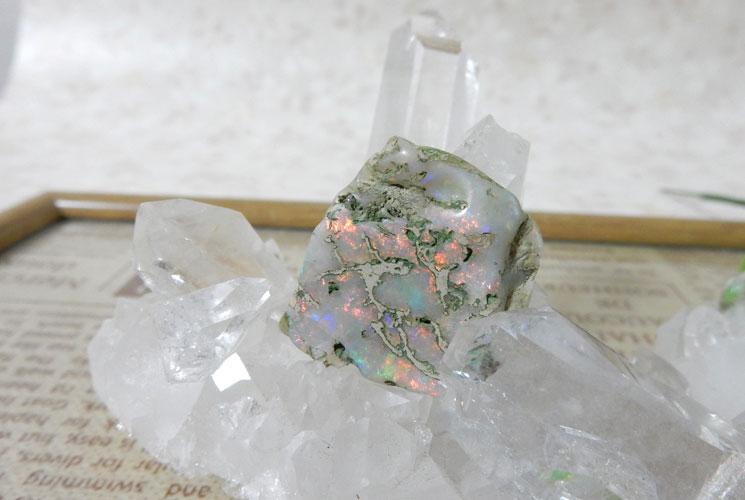 オーストラリア産オパールの磨き石-1