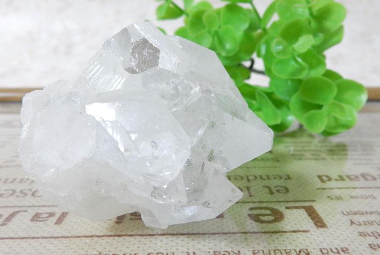 インド産アポフィライト原石-1