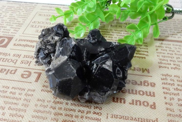 モリオン(黒水晶) クラスター-0