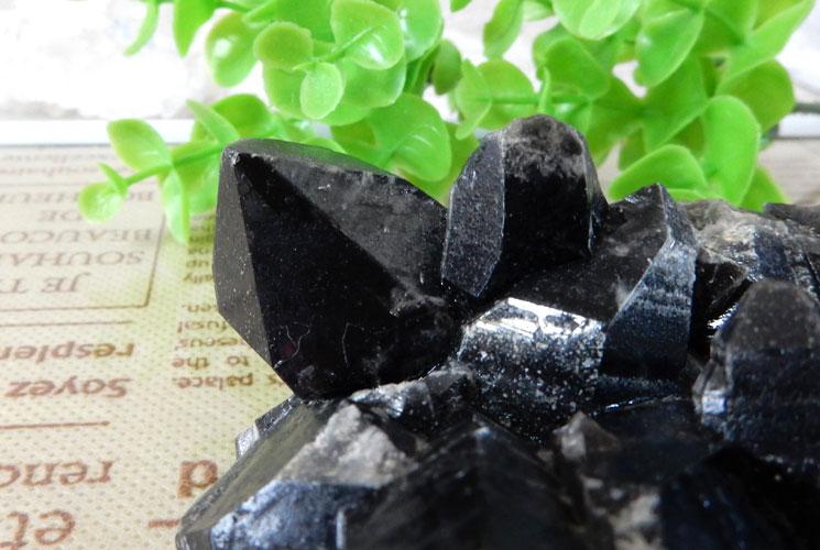 モリオン(黒水晶) クラスター-2