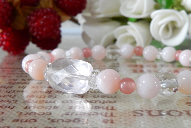ピンクオパール&インカローズ ブレスレット-0