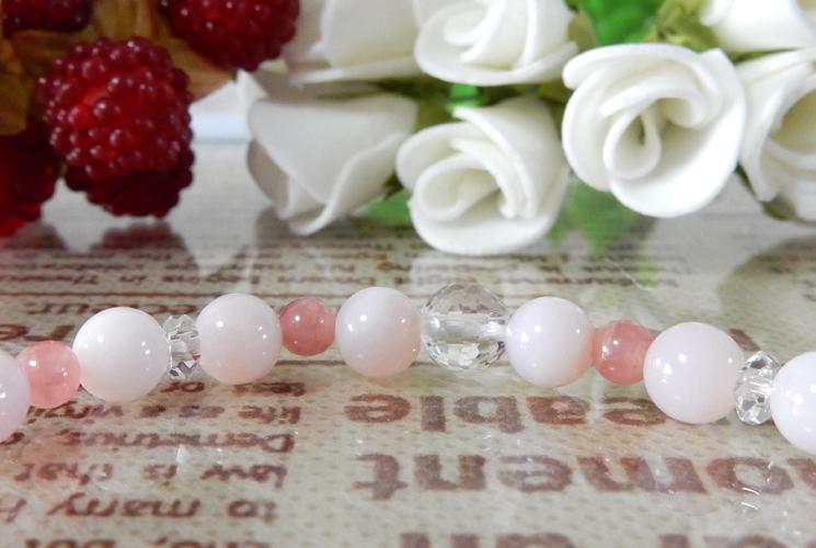 ピンクオパール&インカローズ ブレスレット-1