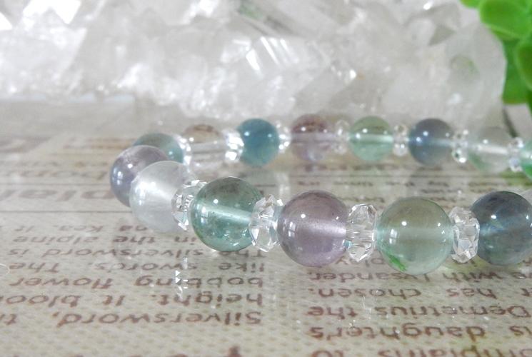 フローライト&クォーツ(水晶) ブレスレット-0