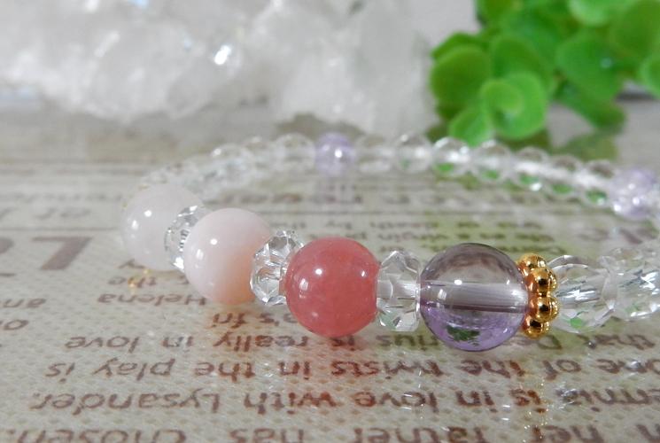 インカローズ&ピンクオパール ブレスレット-0