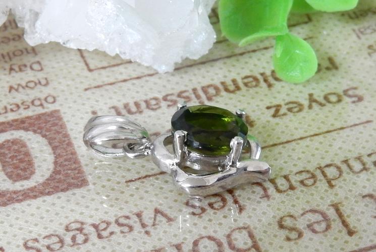 宝石質グリーントルマリン SV925 ネックレス-0