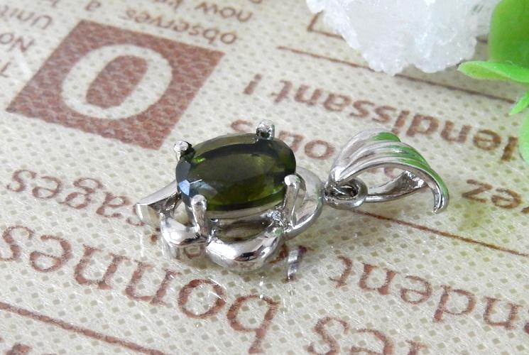 宝石質グリーントルマリン SV925 ネックレス-1
