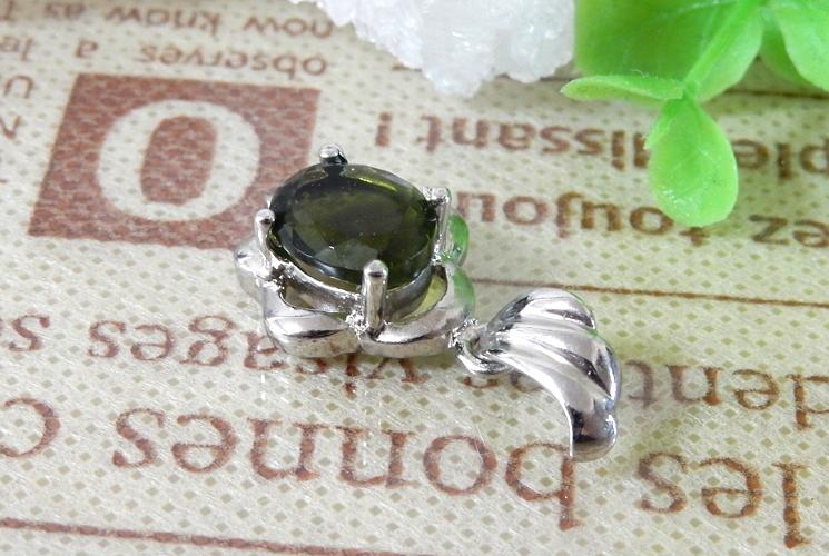 宝石質グリーントルマリン SV925 ネックレス-2