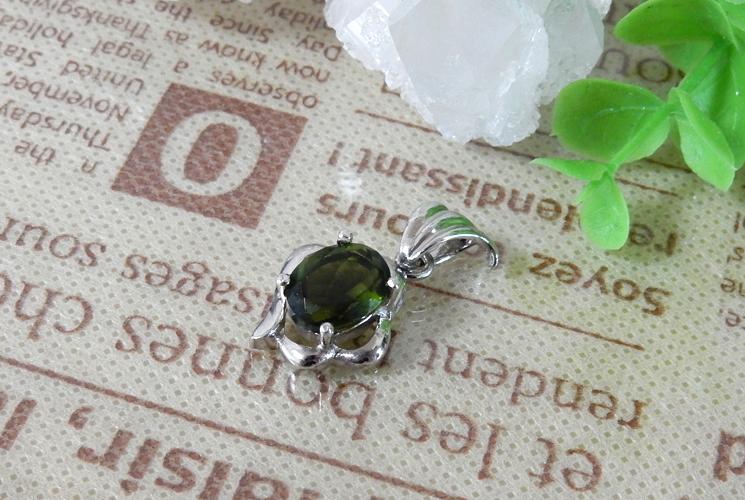 宝石質グリーントルマリン SV925 ネックレス