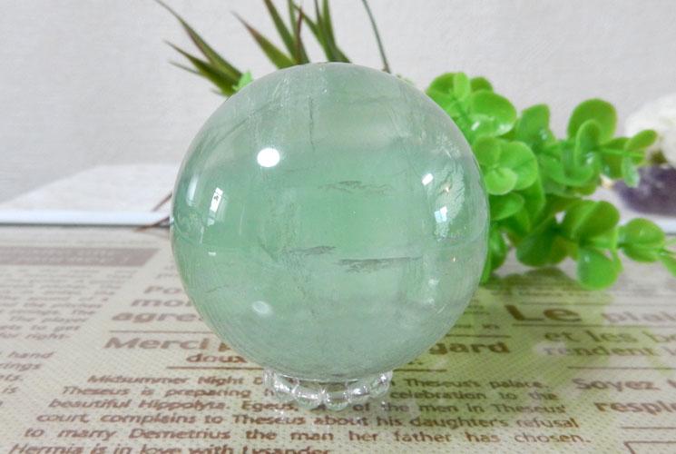 グリーンフローライト 丸玉-0