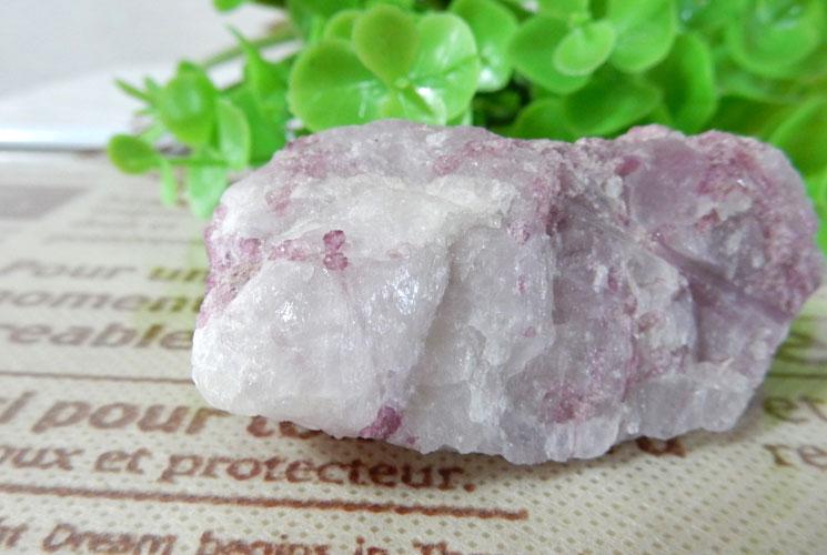 ピンクトルマリン原石(水晶共生)-2