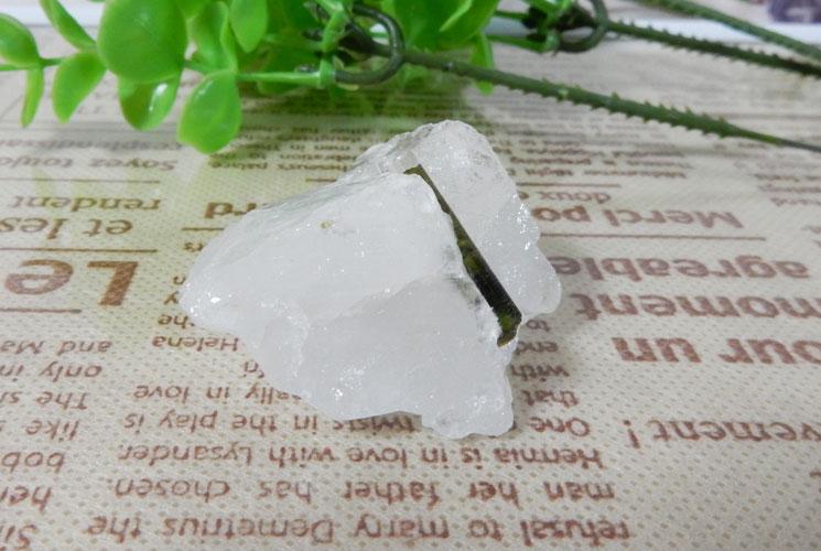 グリーントルマリン 原石(水晶共生)-2