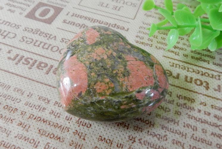 ユナカイト & タイガーアイ ハート置石セット-1