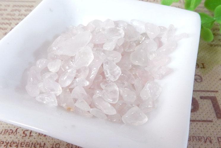 ブラジル産ローズクォーツ さざれ石(200g)-0