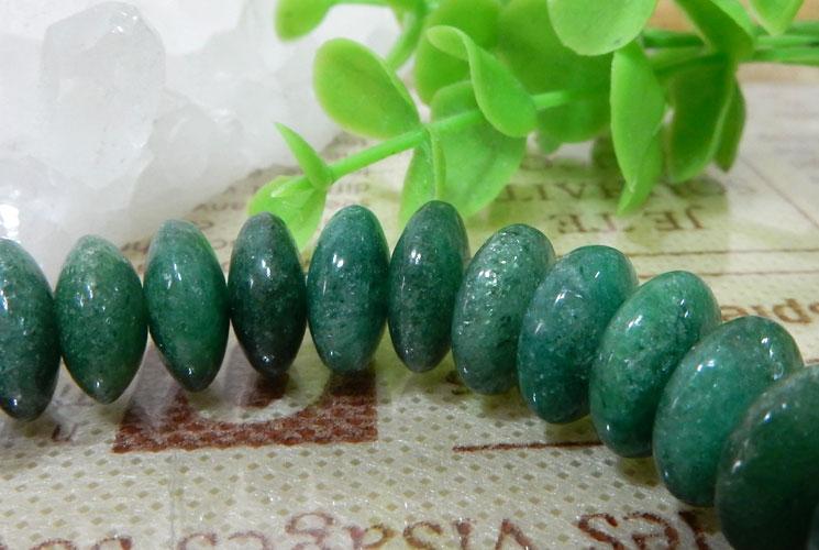 【特価品】インド産グリーンアベンチュリンのボタンブレスレット-1