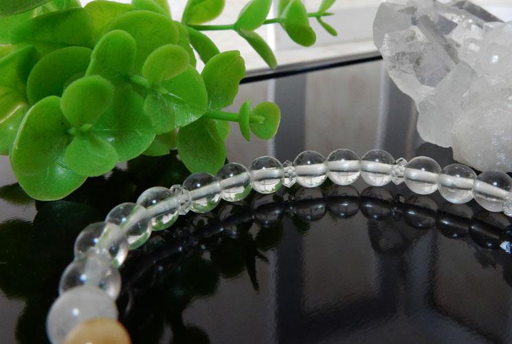ヒマラヤ水晶とアゼツライトのブレスレット-1