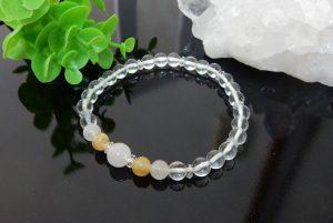 ヒマラヤ水晶とアゼツライトのブレスレット(16-br1129-01)