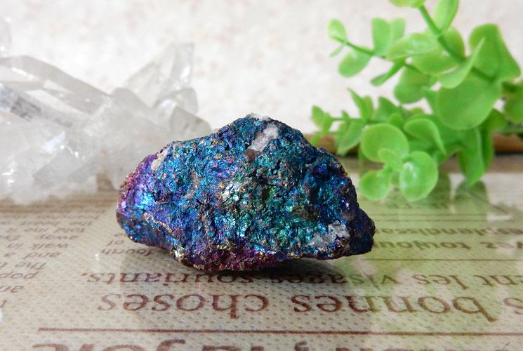メキシコ産ピーコックオレ(斑銅鉱)の原石-2