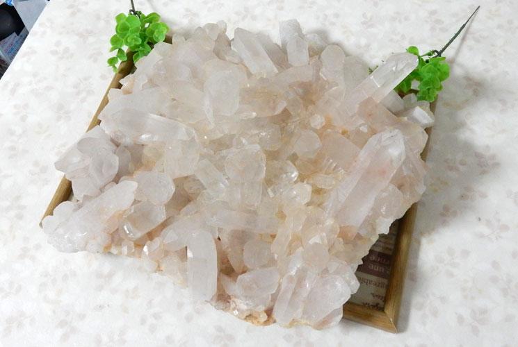 ヒマラヤ・マニカラン産水晶のビッグクラスター-1