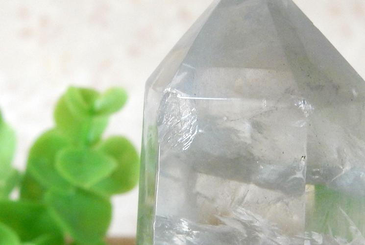 シトリンとクォーツ(水晶) とフローライトのポイント3本セット-3