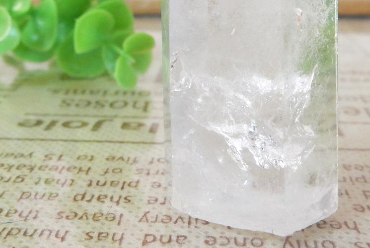 シトリンとクォーツ(水晶) とフローライトのポイント3本セット-5