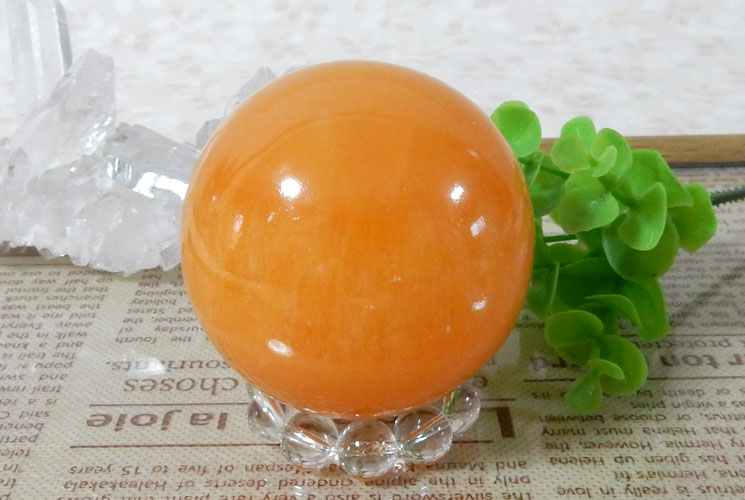 オレンジカルサイトの丸玉(スフィア)-0