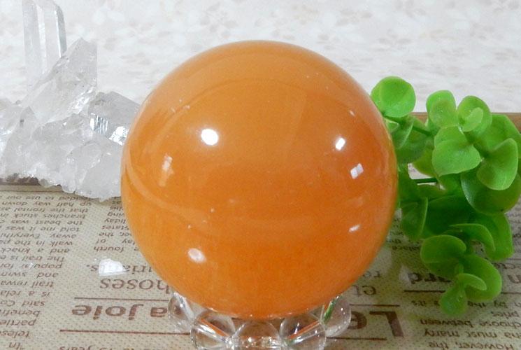 オレンジカルサイトの丸玉(スフィア)-1