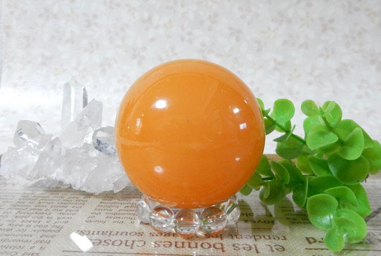 オレンジカルサイトの丸玉(スフィア)