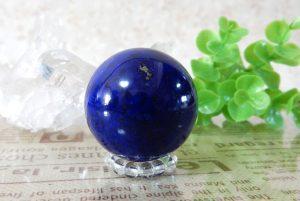 アフガニスタン産高品質ラピスラズリの丸玉(スフィア)(16-gs0126-02)