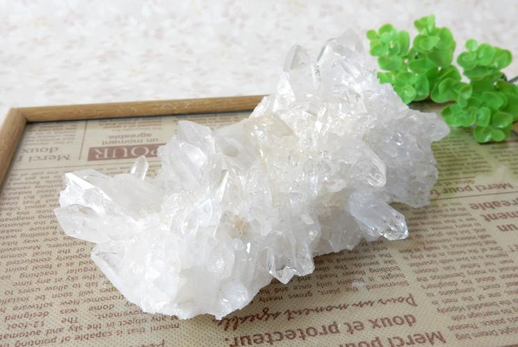 ヒマラヤ産の水晶クラスター-4