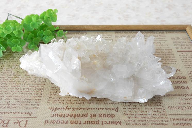 ヒマラヤ産の水晶クラスター-7