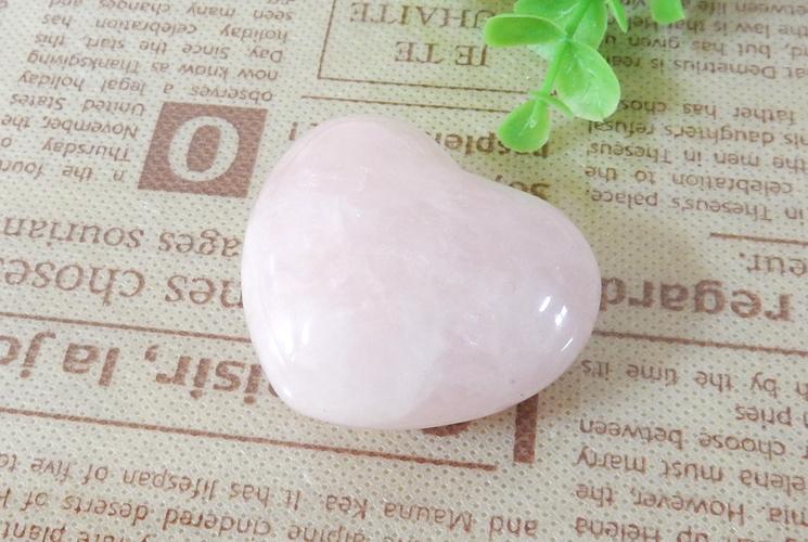 ローズクォーツとクォーツ(水晶)のハート置石セット-1