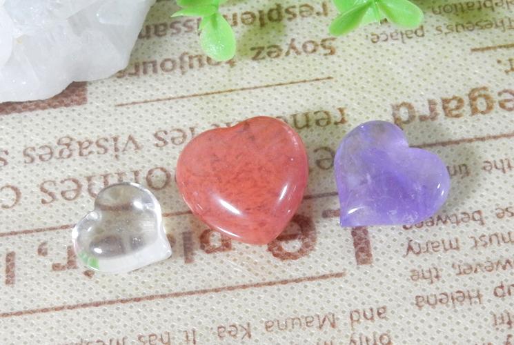 【Trial 980円】天然石のハート置石セット-2