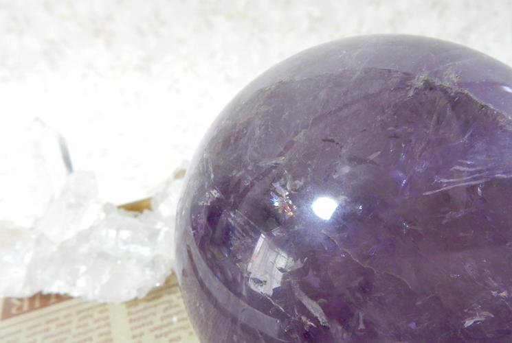ブラジル産アメジストの丸玉(スフィア)-1