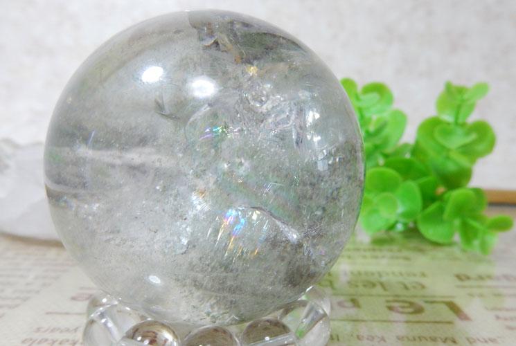 ブラジル産グリーンファントムクォーツの丸玉(スフィア)-3