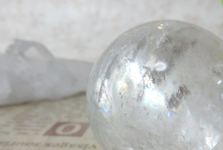 ホワイトカルサイトの丸玉(スフィア)-0
