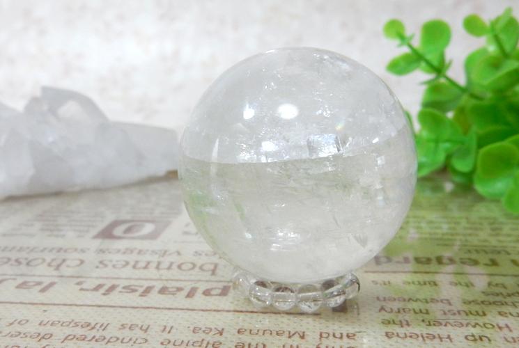 ホワイトカルサイトの丸玉(スフィア)-1