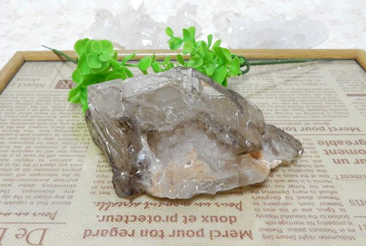 ブラジル産スモーキーエレスチャルクォーツDTの原石