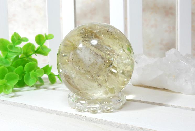 レモンクォーツの丸玉(スフィア)-3
